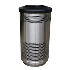 Stadium Series 35 Gallon Perforated Receptacle in Stainless Steel