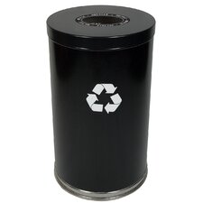 Metal Recycling One Opening Industrial Recycling Bin