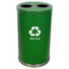 Metal Recycling Two Opening Multi Compartment Recycling Bin