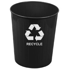 Metal Recycling 26 Qt. Recycling Waste Basket (Set of 6)