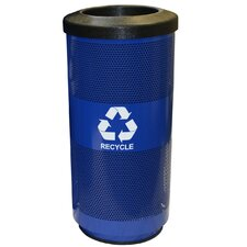 Metal Recycling Perforated 20 Gallon Industrial Recycling Bin