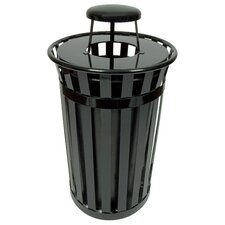<strong>Witt</strong> Oakley Collection 24 Gallon Trash Receptacle with Rain Cap