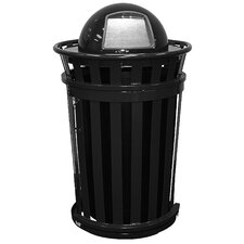 Oakley Collection 36 Gallon Trash Receptacle with Slide Gate & Dome Top