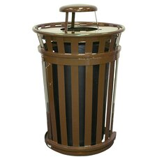 <strong>Witt</strong> Oakley Collection 36 Gallon Trash Receptacle with Slide Gate & Rain Cap