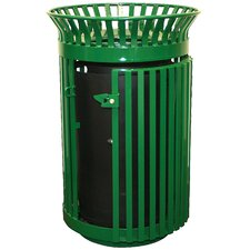 Queen City 36 Gallon Gated Trash Receptacle and Flat Top Lid