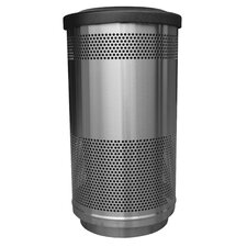 <strong>Witt</strong> Stadium Series 35 Gallon Perforated Receptacle in Stainless Steel
