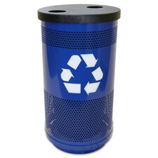Stadium Series Perforated 35 Gallon Multi Compartment Recycling Bin