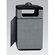 Stadium Series Poly-Lite Crete PLC 47 Gallon Square Trash Side Load Access Door