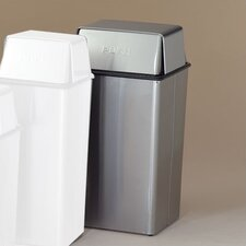 Metal Series Wastewatchers 36 Gallon Stainless Steel Push Top Receptacle