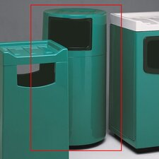 Fiberglass Series 45 Gallon Round Food Court Receptacle
