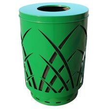 Covington Sawgrass Laser Cut Metal Waste Receptacle with Flat Top - Round Hole