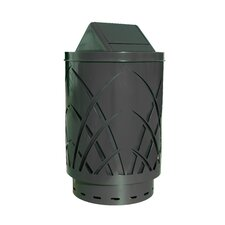 <strong>Witt</strong> Covington Sawgrass Laser Cut Metal Waste Receptacle with Swing Push Door