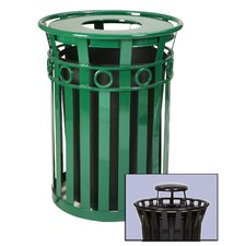 Oakley Collection 36 Gallon Trash Receptacle with Rain Cap