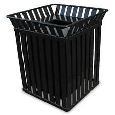 Oakley Trash Receptacle with Flat Top