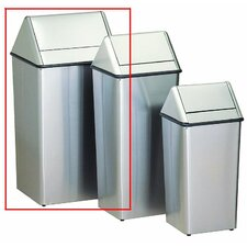 <strong>Witt</strong> Metal Series Wastewatchers 36 Gallon Stainless Steel Swing Top Receptacle