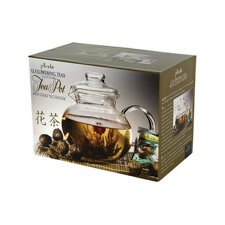 1.25-qt. Teapot with 12 Flowering Teas