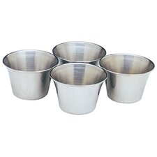 Stainless Steel Sauce Cups (Set of 4)