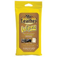 16 Count Mr. Leather Wipes (Set of 12)
