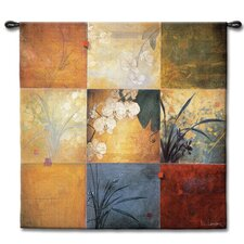 <strong>Fine Art Tapestries</strong> Abstract Orchid Nine Patch by Don Li-Leger Tapestry