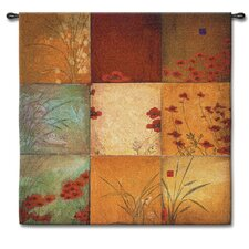<strong>Fine Art Tapestries</strong> Abstract Poppy Nine Patch Large by Don Li-Leger Tapestry