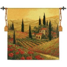 Poppies of Toscano II BW Tapestry