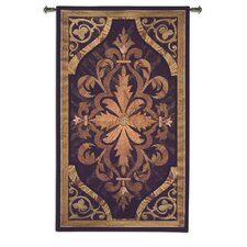 <strong>Fine Art Tapestries</strong> Wood Inlay Teak BW Tapestry