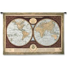 Map of The World Large Wall Hanging
