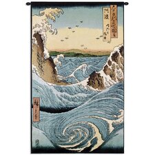 <strong>Fine Art Tapestries</strong> Navaro Rapids by Ando Hiroshige Tapestry