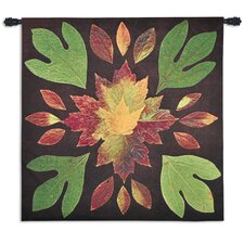 Kaleidoscope Leaves Tapestry