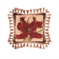 Fire Red Tulip Pillow - Liz Jardine