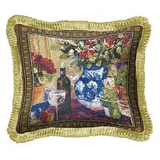 <strong>Fine Art Tapestries</strong> Red Roses with Wine Pillow