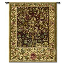 Classical Tree of Life Ruby Small by William Morris Tapestry