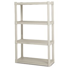 "35.25"" H 4 Shelf Shelving Unit"