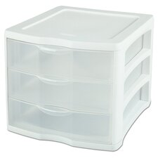 <strong>Sterilite</strong> 3 Drawer ClearView™ Storage Organizer