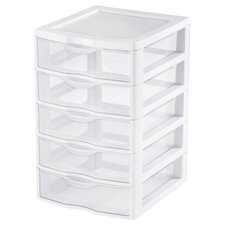 <strong>Sterilite</strong> 5 Drawer ClearView™ Storage Unit
