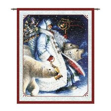 <strong>Pure Country Weavers</strong> Santa and Polar Bears Tapestry