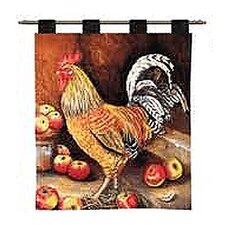 English Cockerel by Alexandra Churchill Tapestry