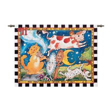 Hey Diddle Diddle Tapestry Hanging Art