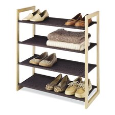 Wood and Fabric Shelves