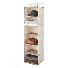 6-Shelf Tweed Hanging Accessory Shelf