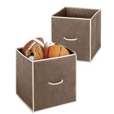"""Collapsible 14"""" Storage Cube (Set of 2)"""