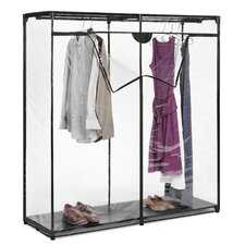 "<strong>Whitmor, Inc</strong> 60"" Extra Wide Clothes Closet in Crystal Clear"