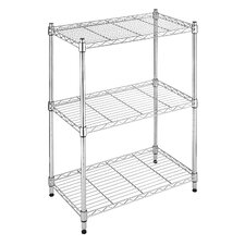 Three Tier Supreme Small Shelving in Chrome