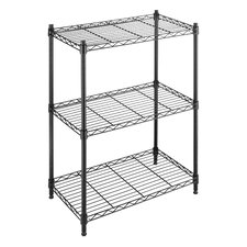 Three Tier Supreme Small Shelving in Black