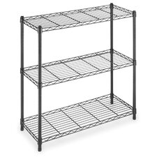 <strong>Whitmor, Inc</strong> Three Tier Supreme Wide Shelving in Black