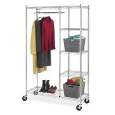 Rolling Garment Shelves Rack