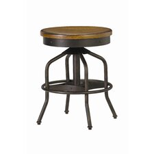 Great Rooms Swivel Factory Stool in Distressed Hickory Stick