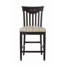 Great Rooms Wine Barrel Counter Chair in Distressed Charcoal