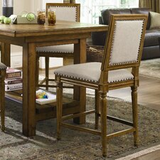 Great Rooms Bergere Counter Chair in Distressed Hickory Stick