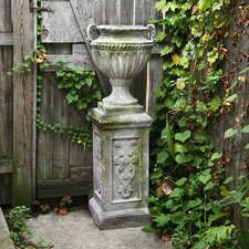 Fluted and Beaded Urn Planter